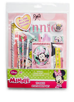 Minnie Mouse 11-Piece Stationery Set - 3593024900230