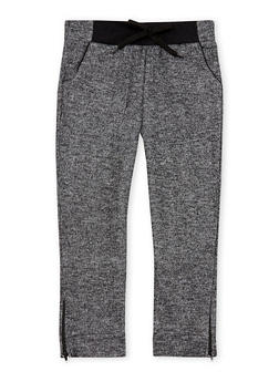 Girls 4-6x Marled Knit Joggers with Zip Ankles - 3601038340013