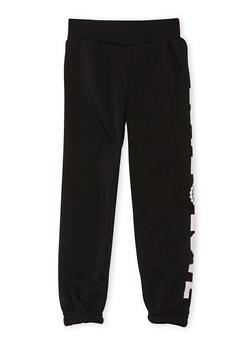 Girls 4-6x Fleece Sweatpants with Love Graphic - 3601048370001