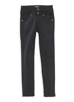 Girls 4-6x Solid Twill Skinny Pants - 3601054730008