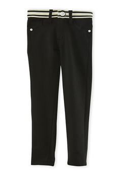 Girls 4-6x Stretch Pants with Contrast Waistband - 3601060990012