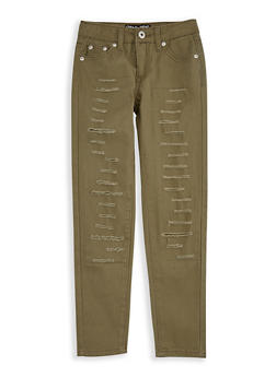 Girls 7-16 Slashed Twill Pants - 3602023130001
