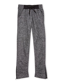 Girls 7-16 Joggers with Zipper Ankles - 3602038340018