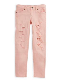Girls 7-16 Ripped Twill Pants - 3602054730005