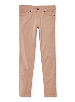 Girls 4-16 Solid Twill Stretch Pants - 3602054730009