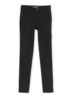 Girls 7-16 Solid Stretch Pants - 3602056570006