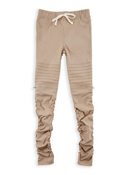 Girls 7-16 Solid Moto Jeggings - 3602056570007