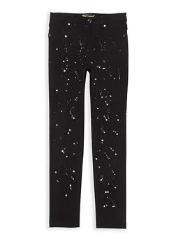 Girls 7-16 Paint Splatter Jeggings - 3602056570010