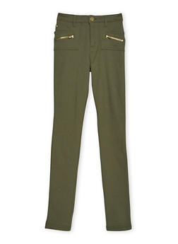 Girls 7-16 Pants with Zip Accents - 3602056571870
