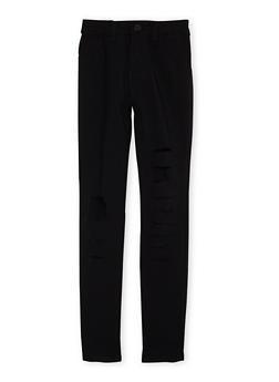Girls 7-16 Stretch Jeans with Slash Cuts - 3602056720001
