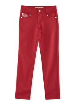 Girls 7-14 Rhinestone Stretch Pants - 3602060580029