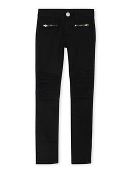 Girls 7-16 VIP Skinny Moto Jeans - 3602065300002