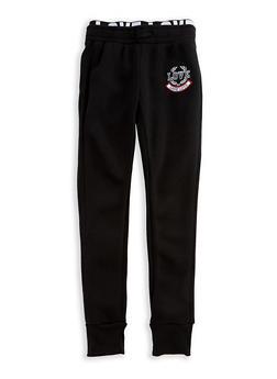 Girls 7-16 Love Elastic Joggers - 3602073270004
