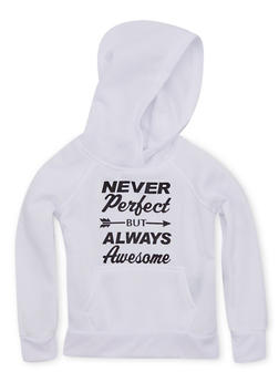 Girls 7-16 Hoodie with Always Awesome Graphic - 3606038340019