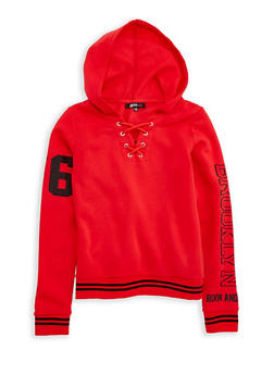 Girls 7-16 Brooklyn Born Graphic Pullover Hoodie - 3606038340146