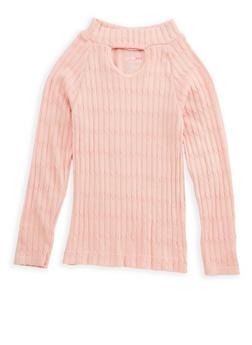 Girls 7-16 Long Sleeve Knit Sweater - 3606038340151