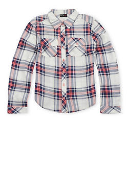 Girls 7-16 Plaid Shirt - 3606051060016