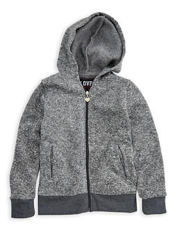 Girls 7-16 Fleeced Line Zip Up Hoodie - 3606063400007