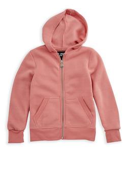 Girls 7-16 Zipper Front Hoodie - 3606063400019