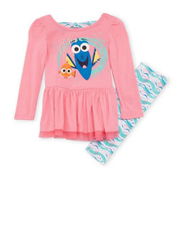 Girls 4-6x Finding Dory Tunic Top and Leggings Set - 3607009290008