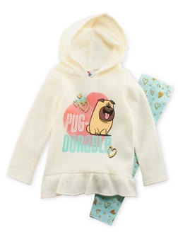 Girls 4-6x Secret Life of Pets Graphic Hoodie with Leggings Set - 3607009290014