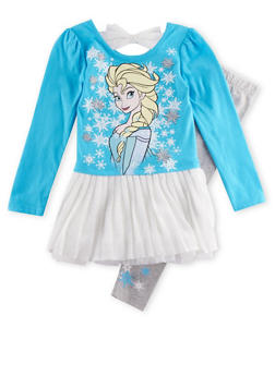 Girls 4-6x Frozen Graphic Top with Leggings Set - 3607009290019