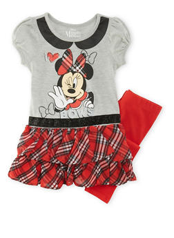 Girls 4-6x Minnie Mouse Dress and Leggings Set - 3607009290026
