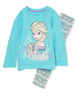 Girls 4-6x Frozen Sweater and Leggings Set - 3607009290039