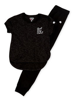 Girls 4-6x Limited Too Graphic T Shirt and Jogger Set - 3607060990011