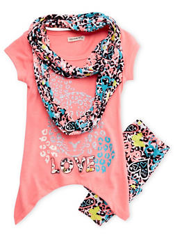 Girls 4-6x Tunic Top and Leggings Set - 3607061950049