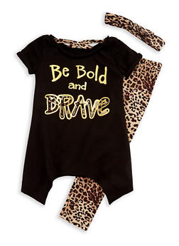 Girls 4-6x Be Bold and Brave Graphic Top and Leggings Set - 3607061950072