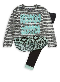 Girls 7-16 Limited Too Knit Graphic Top and Leggings Set - 3608060990099