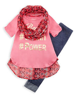 Girls 7-16 Hashtag Graphic T Shirt and Leggings Set - 3608061950062