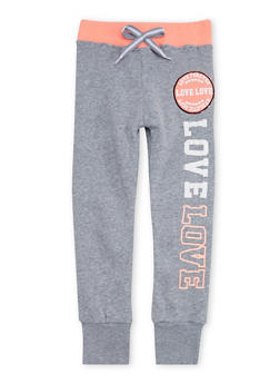Girls 4-6x Love Forever Graphic Jogger Pants - 3611063400007