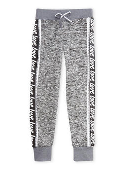 Girls 4-6x Love Graphic Joggers - 3611063400011