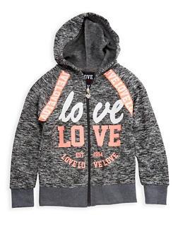 Girls 4-6x Marled Hooded Sweatshirt - 3611063400028