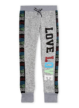 Girls 4-6x Love Graphic Joggers - 3611063400031