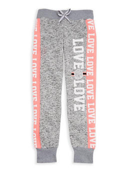 Girls 4-6x Space Dye Graphic Joggers - 3611063400035