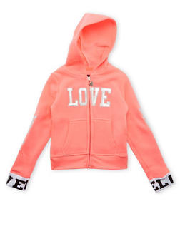 Girls 4-6x Love Graphic Hoodie - 3611063401112