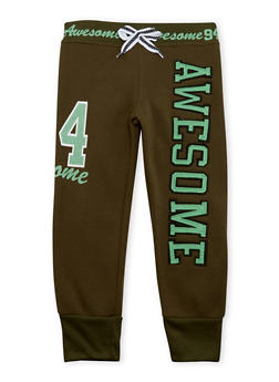 Girls 4-6x Joggers with Awesome Graphic - 3611063401115