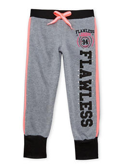 Girls 4-6x Joggers with Flawless Applique - 3611063401125
