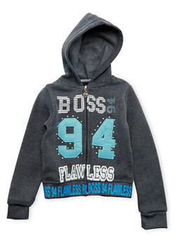 Girls 4-6x Hoodie with Boss 94 Flawless Graphic - 3611063401126