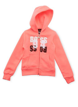 Girls 4-6x Hoodie with Boss 94 Graphic - 3611063401130