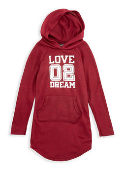 Girls 4-6x Hooded Love 02 Dream Graphic Dress - 3614038340014