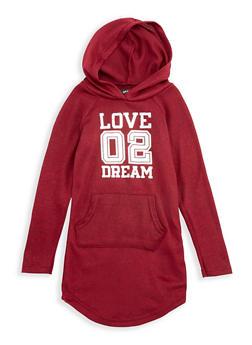 Girls 4-6x Hooded Love 02 Dream Graphic Dress - 3614038340014
