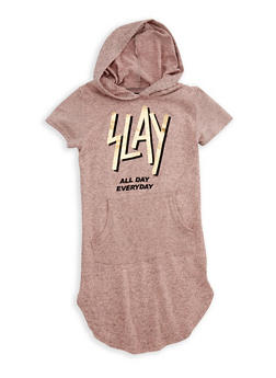 Girls 4-6x Slay Hooded Dress - 3614038340015
