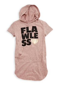 Girls 4-6x Flawless Graphic Hooded Dress - 3614038340016