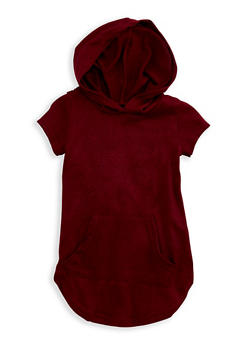 Girls 4-6x Short Sleeve Hooded Dress - 3614038340017