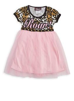Girls 7-14 Roar Mesh Dress - 3615021280010