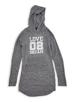 Girls 7-16 Graphic Hooded Sweatshirt Dress - 3615038340016